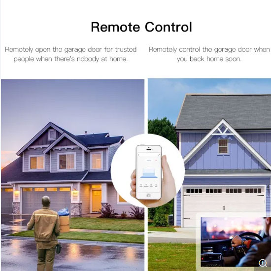 SMILE GARAGE WiFI module with magnetic contact for garage doors